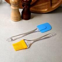 Набор силіконова лопатка кухарський пензлик 2 пр