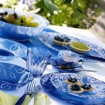 Блакитний столовий сервіз Luminarc Plenitude Blue 19 предметів (N4783)