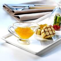 Соусник скляний середній з ручкою для подання аджики і сметани Pasabahce Basic 170 мл (55012)