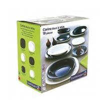 Столовый сервиз черно-белый квадратный Luminarc Carine Black/White 18 предметов (N1479)