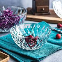 """Набір круглих скляних салатниць в подарунковій упаковці HLS """"Ромби"""" 120 мм 6 шт (6256)"""