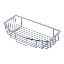 Напівовальна хромована полиця для ванни Besser 30х16.5х6 см
