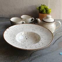 Круглая тарелка фарфоровая для пасты Kutahya Porselen Atlantis 300 мм (CR3130)