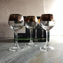Скляні чарки із золотим малюнком Гусь-хрустальный Кракелюр 6 шт (TRV267 - 1801/S)