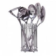 Набір кухонного начиння 6 предметів в комплекті з підставкою-склянкою Kamille