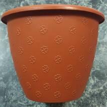 Маленький теракотовий квітковий горщик 1.1л 15*11.5 см, квітковий вазон