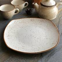Квадратная большая тарелка из фарфора Kutahya Porselen Atlantis 300 мм (CR3230)