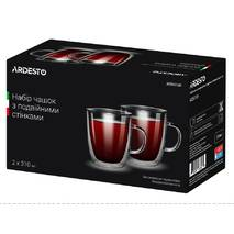 Набір чашок для чаю з подвійними стінками 310 мл 2 шт Ardesto (AR2631GH), чашки з подвійним дном