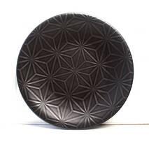 "Чёрная тарелка фарфоровая Kutahya Porselen ""Corendon"" 230 мм (NM3023)"