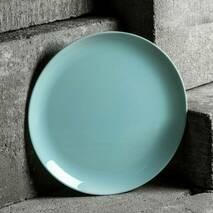 Лазурная персональная плоская тарелка Luminarc Diwali Light Turquoise 19 см (P2613)