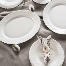 Блюдо овальное белое Bormioli Rocco Ebro 36 см, ресторанная посуда