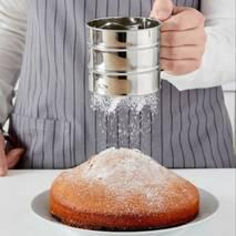 Кухоль-сито для просіювання борошна з одинарним ситовим дном