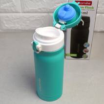 Термос-пляшка із захистом від відкриття Kamille 360 мл з нержавіючої сталі (кольори mix)