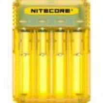 Універсальне зарядне облаштування Nitecore Q4 жовте Li - Ion/IMR 2a max 220V/12V LED