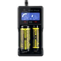 Зарядное устройство XTAR VC2 Plus Master Ni-Cd/Ni-Mh/Li-Ion USB/220V LCD Powerbank