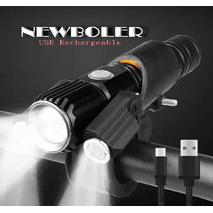 Велосипедный фонарь NEWBOLER 1800LM Вело фара+Micro USB+ЗУМ+Крепеж