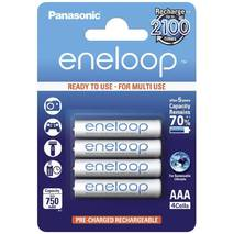 Аккумулятор Panasonic Eneloop BK-4MCCE/4BE, AAA/(HR03), 750 mAh, LSD Ni-MH, блистер 4шт