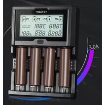 Зарядное устройство MiBoxer C4-12 4 канала Ni-Mh/Li-ion 3A 220V/12V USB Powerbank LCD