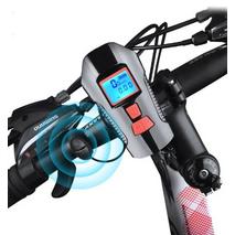 Велосипеный ліхтар клаксон спідометр і пульт 800lm USB LCD вело фара