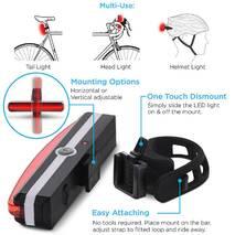 Велосипедный фонарь USB Стоп Мигалка