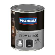 Високотемпературна фарба Nobiles Termal 500 чорна 0,7л. ТОП ПРОДАЖ!