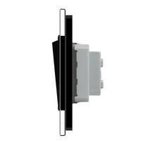 Одноклавішний вимикач чорний скло Livolo