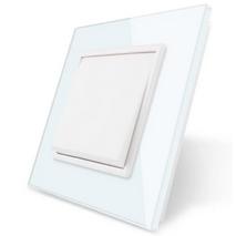 Одноклавішний вимикач білий скло Livolo