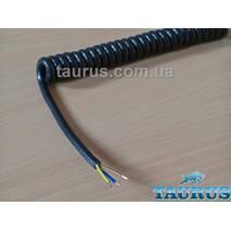 Кабель спиральный чёрный ThermoPulse Power Black 3х1.5; Длина от 0,8 до 4,5 м. Мощность до 3100W. Медь