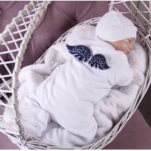 Зимний комплект на выписку для мальчика Норвегия 56-62 белый с темно-синим