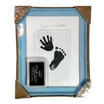Рамка для чернильных отпечатков голубая, 18х23 см
