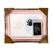 Рамка для чернильных отпечатков розовая (именная, горизонтальная), 21х15 см