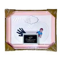 Рамка для чернильных отпечатков розовая (именная, горизонтальная), 23х18 см