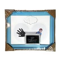 Рамка для чернильных отпечатков голубая (именная, горизонтальная), 23х18 см