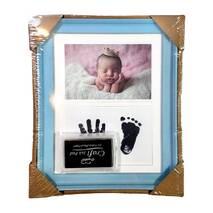 Рамка для чернильных отпечатков + фото голубая, 18х23 см