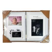 Рамка для чернильных отпечатков двойная + 2 фото, белая, 31х21 см