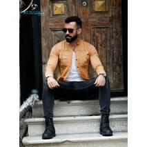 Джинсовая рубашка светло рыжего цвета с карманами S, M