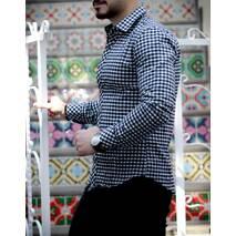 Рубашка длинный рукав утепленная S