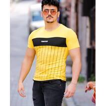 Стрейчевая желтая футболка TongTouy S, M, L
