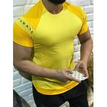 Футболка желтого цвета fortunate со скосыми рукавами S, M