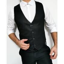 Жилетка модная темно-серого цвета S, M, L, XL, XXL