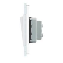 Одноклавишный выключатель белый стекло Livolo