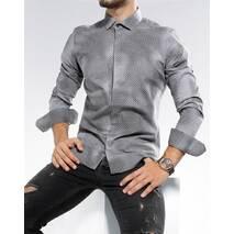 Стрейчевая рубашка в принт под вареный джинс L, XL