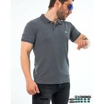 Поло графитового цвета из ткани лакост M, L, XL, XXL, 3XL