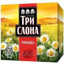 """Чай """"ТРИ СЛОНА"""" 30ф/п*1,4г Цветочный Ромашка бы/я (1/9)"""