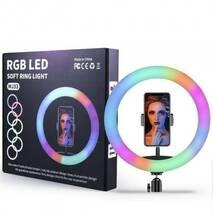 Кільцева LED лампа RGB MJ26 (1 кріплення) (управління на дроті)