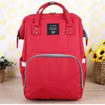 Сумка-рюкзак для мам MOTHER BAG el - 1230 ЧЕРВОНА