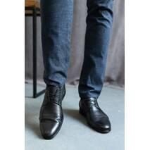 Мужские туфли кожаные весна/осень черные Cevivo 5601