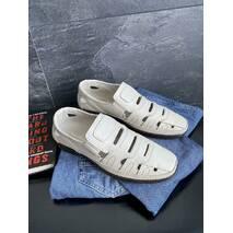Мужские сандали кожаные летние бежевые Vankristi 1151