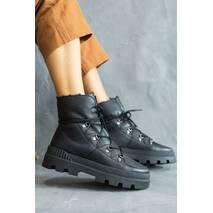 Жіночі черевики шкіряні зимові чорні Emirro A - 119 на хутрі