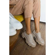 Женские туфли кожаные весна/осень белые Udg 21202/6